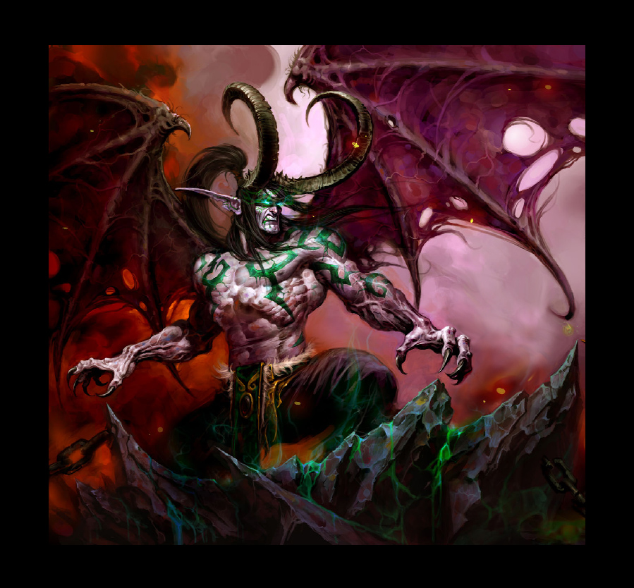 World of Warcraft sculpture: Illidan