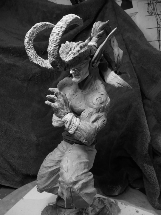 Illidan sculpture update Jan 09