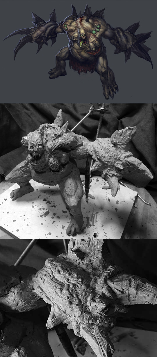 Diablo III sculpture: Unburied